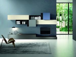 Sala de estar de diseño minimalista