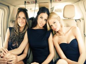 Las top models Alessandra Ambrosio, Adriana Lima y Erin Heatherton