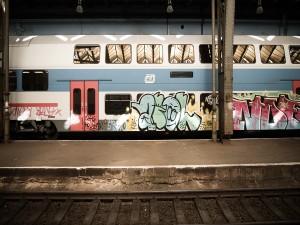 Graffiti en un tren