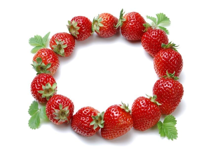 Fresas en círculo