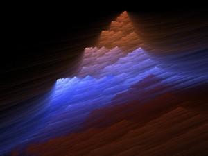 Los rayos de luz en el cañón
