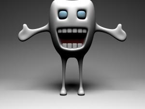 Un diente alegre
