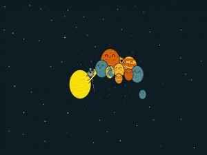El Sol fotografiando a los planetas