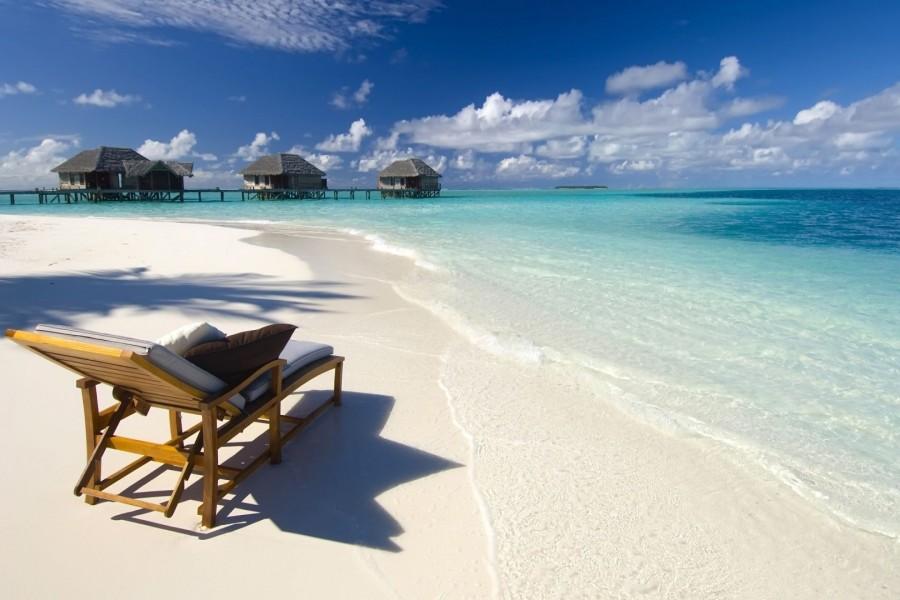 Descansando en las Maldivas
