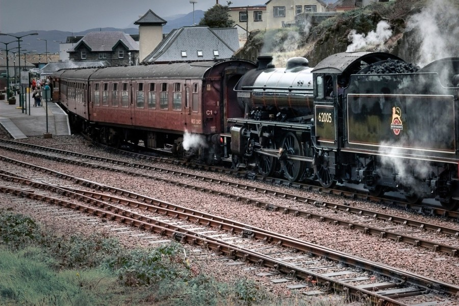 Antigua locomotora a vapor