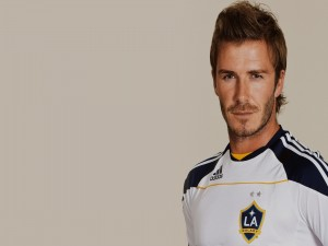 David Beckham con la camiseta de Los Angeles Galaxy