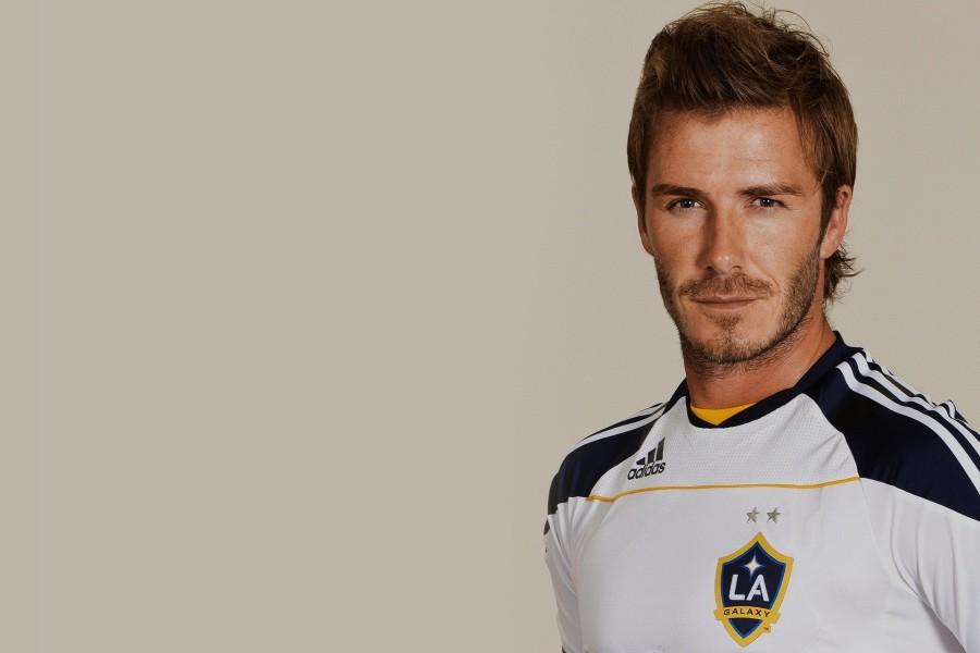 David Beckham con la camiseta de Los Angeles Galaxy