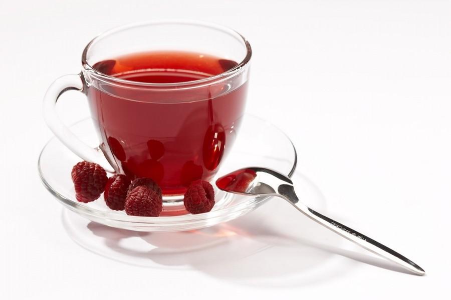 Rico té de frambuesa