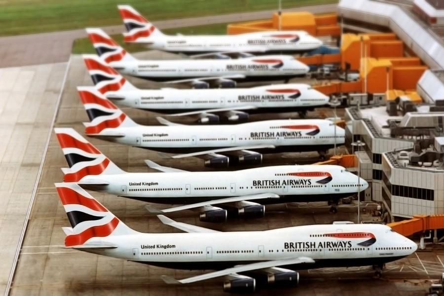 Seis Boeing 747 de la British Airways