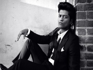 El cantante Bruno Mars