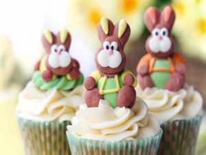 Cupcakes para festejar Pascua