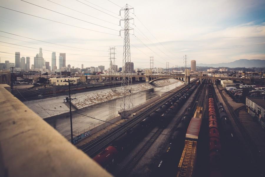 Vías de tren en Los Ángeles