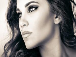 El rostro de una bella mujer