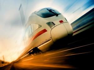 Un tren en marcha