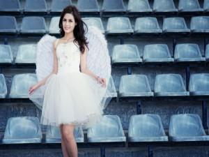 Un ángel en las gradas