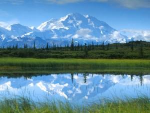 Monte McKinley en el Parque Nacional Denali (Alaska)