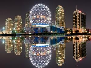 La noche en Vancouver (Canadá)