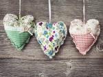 Tres bonitos corazones