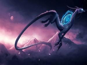 Dragón mágico volando