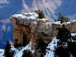 Nieve en un cañón