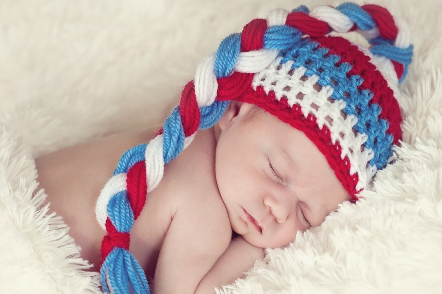 Un hermoso bebé durmiendo