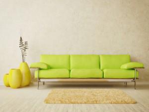 Un moderno sofá