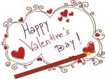 Escribiendo una felicitación para el Día de San Valentín
