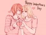Pareja celebrando el Día de San Valentín