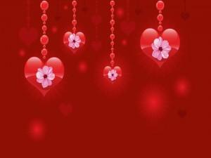 Hermoso corazones colgantes