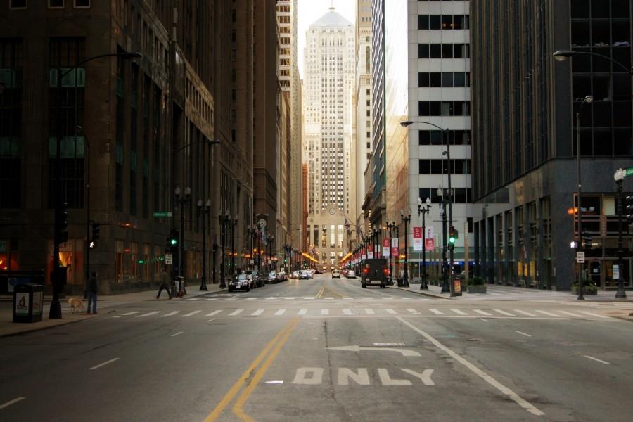 Calle de una gran ciudad