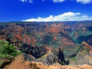 Vista del cañón Waimea (Hawái)
