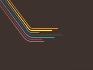 Líneas de colores en un fondo marrón