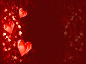 Corazones iluminados en el Día del Amor y la Amistad