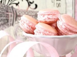 Unos bonitos macarons rosas