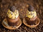 Dos cupcakes de café