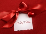 """Tarjeta para """"San Valentín"""" en fondo rojo"""
