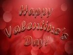¡Feliz Día de San Valentín! en fondo rojo