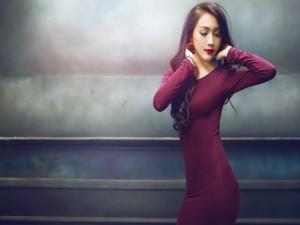 Una guapa modelo asiática