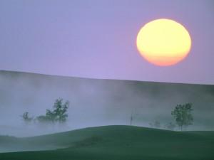 Gran sol al amanecer