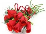 Radiante ramo de rosas color rojo para San Valentín