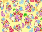 Corazones florales