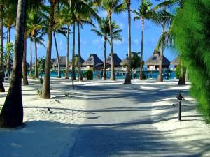 Magnífica playa en Bora Bora
