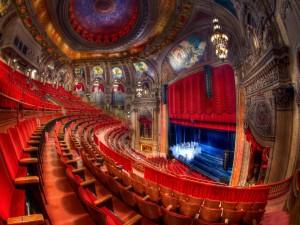 Interior de un teatro de Chicago