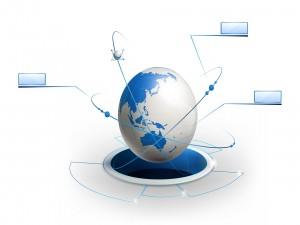 La Tierra conectada a través de internet