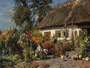 Pintura del artista danés Peder Mork Monsted