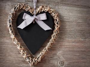 Creativo corazón de adorno