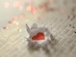 Corazón en una carta de amor