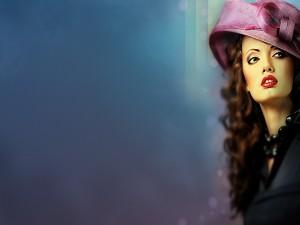 Chica con un elegante sombrero