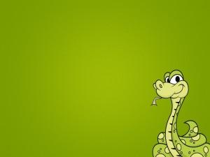 Una simpática serpiente