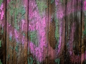 Tablas viejas con pintura